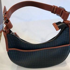 Ralph Lauren Green/Blue Plaid Tartan Hobo purse.